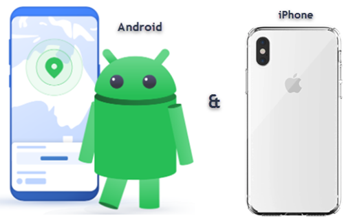 Android and iPhone