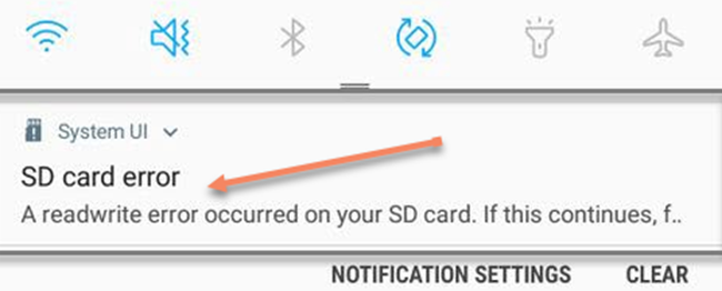 SD Card Error